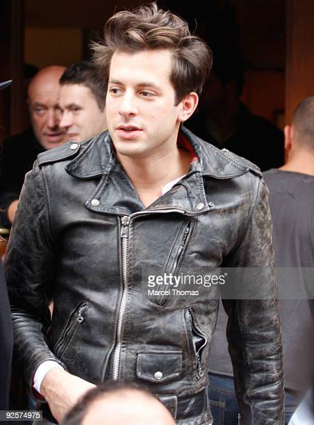 Mark Ronson walks on the Streets of Manhattan on October 30 2009 in New York City
