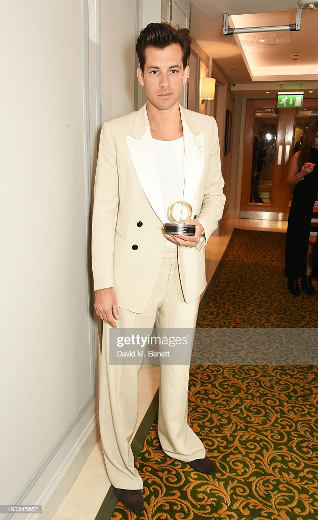 Mark Ronson, winner of the Q Hero award, poses at The Q Awards at The Grosvenor House Hotel on October 19, 2015 in London, England.