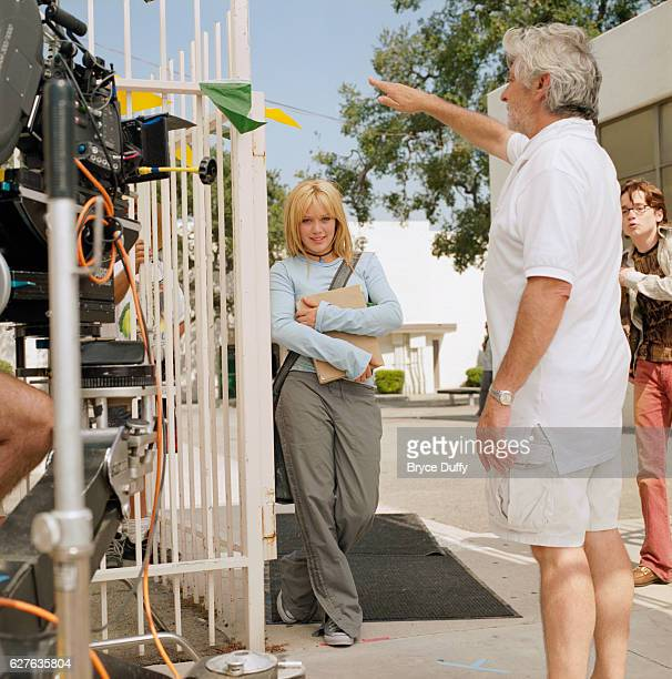 Mark Rosman directs Hilary Duff as Sam Martin in the film A Cinderella Story