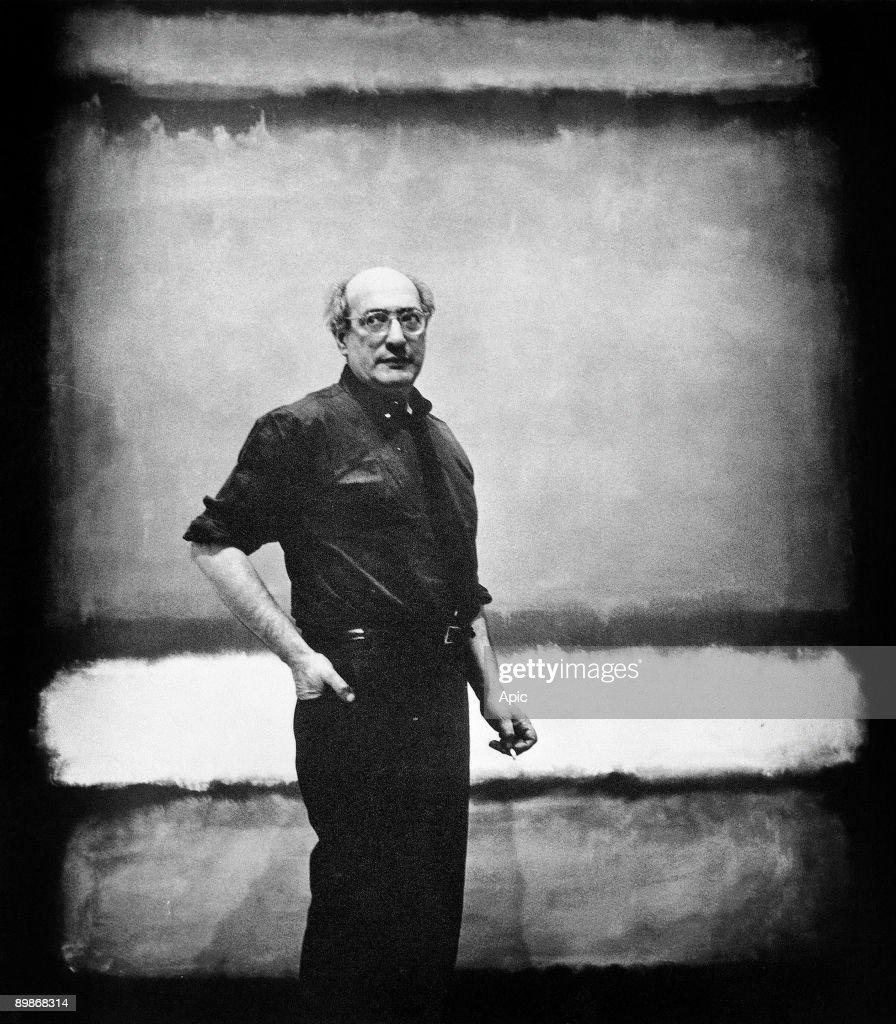 Mark Rothko (1903-1970) american painter : News Photo
