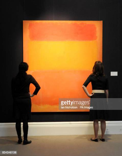 Mark Rothko's Orange Red Yellow from 1956 which is expected to fetch in excess of $30million when it is sold at a Sotheby's auction in New York
