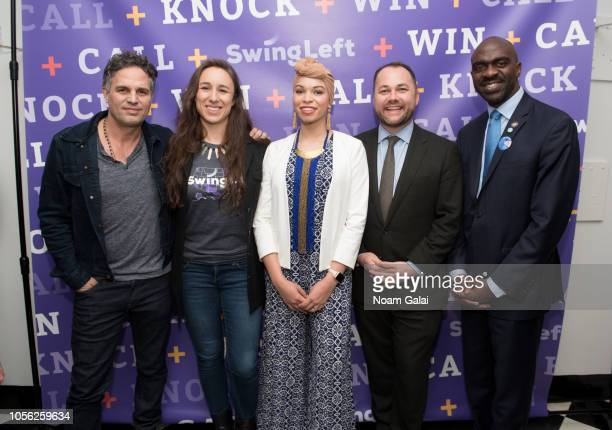 Mark Ruffalo Adrienne Lever Blair Imani Corey Johnson and Michael Blake attend Swing Left's 'The Last Weekend' Election Rally at Cooper Union on...