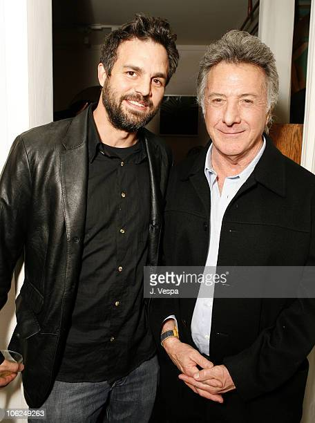 Mark Ruffalo and Dustin Hoffman during Cavern Wallpaper and Kidada for Disney Coutour Celebrate Their New Collections at Kaviar and Kind in West...