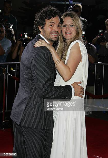 Mark Ruffalo and his wife Sunrise Ruffalo during Just Like Heaven Los Angeles Premiere Arrivals at Grauman's Chinese Theatre in Hollywood California...