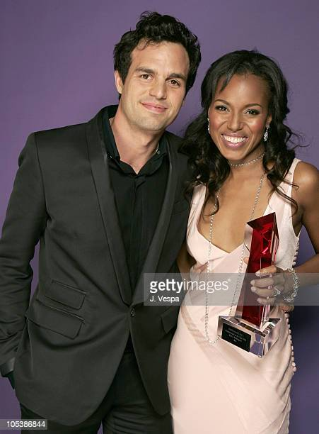 Mark Ruffalo and Kerry Washington during Hollywood Life's 4th Annual Breakthrough of the Year Awards Portraits at Henry Fonda Theatre in Hollywood...