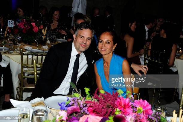 Mark Ruffalo and Maria Cornejo attend Fashion Group International Night Of Stars 2018 at Cipriani Wall Street on October 25 2018 in New York City