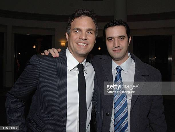 Mark Ruffalo and Producer Brad Fischer during 'Zodiac' Los Angeles Premiere Arrivals at Paramount Studios in Hollywood California United States