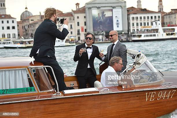 5dd936856d Mark Ruffalo and Stanley Tucci are seen during the 72nd Venice Film Festival  on September 3