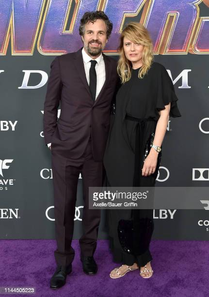 Mark Ruffalo and Sunrise Coigney attend the World Premiere of Walt Disney Studios Motion Pictures 'Avengers: Endgame' at Los Angeles Convention...
