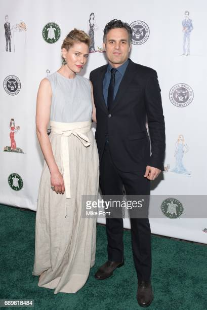 Mark Ruffalo and Sunrise Coigny attend the 2017 Turtle Ball at The Bowery Hotel on April 17 2017 in New York City