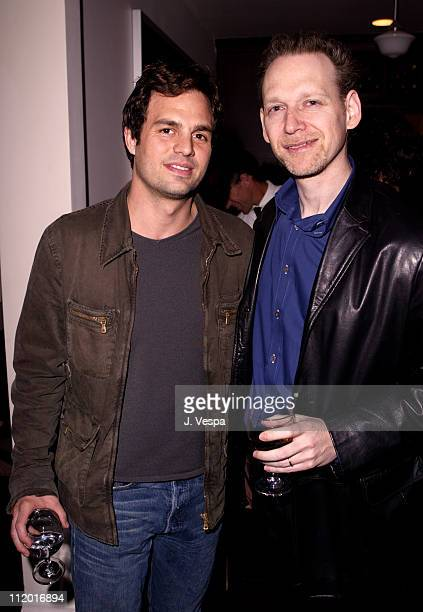 Mark Ruffalo and Wayne Kramer during Lions Gate Celebrates the Acquisition of Artisan Entertainment in Los Angeles California United States