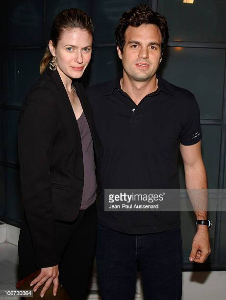 Mark Ruffalo and wife Sunrise during VLIFE and Hermes Host the 1st Annual Oscar Contenders Party in Partnership with Aston Martin and Absolut at...