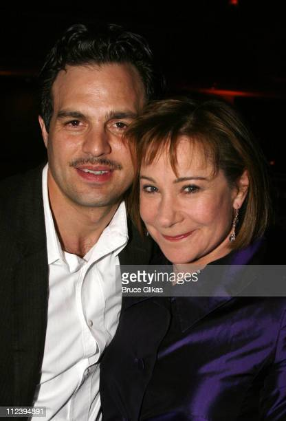 Mark Ruffalo and Zoe Wanamaker during 'Awake and Sing' Opening Night After Party at Marriott Marquis Ballroom in New York City New York United States