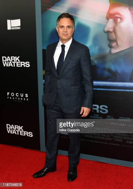 Mark Ruffalo attends the Dark Waters New York Premiere at Walter Reade Theater on November 12 2019 in New York City