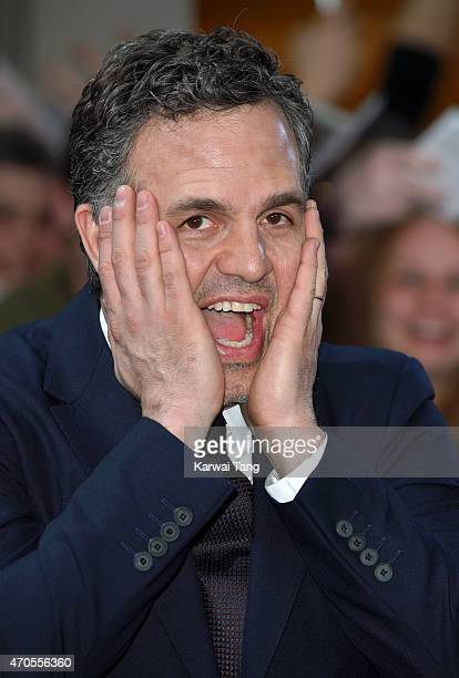 "Mark Ruffalo attends the European premiere of ""The Avengers: Age Of Ultron"" at Westfield London on April 21, 2015 in London, England."