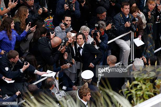 Mark Ruffalo attends the 'Foxcatcher' premiere during the 67th Annual Cannes Film Festival on May 19 2014 in Cannes France