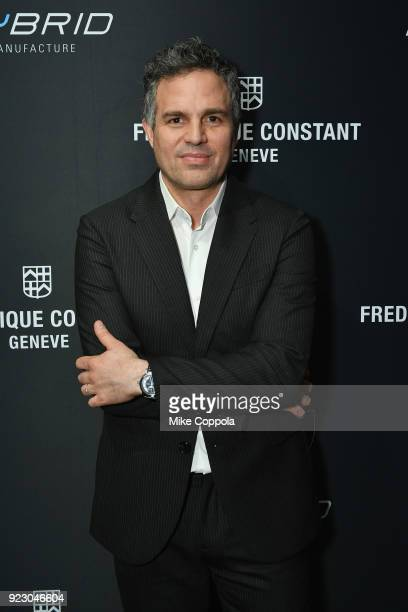 Mark Ruffalo attends the Frederique Constant Hybrid 30 Watch launch with Mark Ruffalo on February 21 2018 in New York City