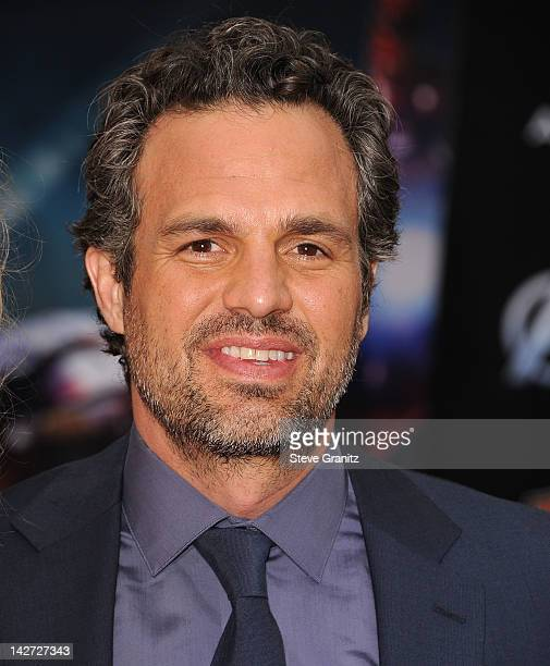 """Mark Ruffalo attends the Los Angeles premiere of """"Marvel's Avengers"""" at the El Capitan Theatre on April 11, 2012 in Hollywood, California."""