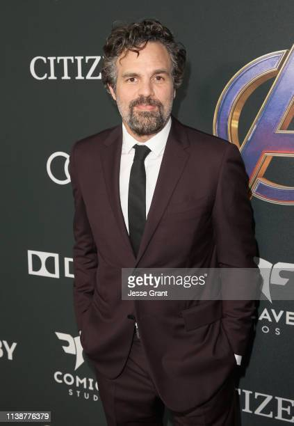 Mark Ruffalo attends the Los Angeles World Premiere of Marvel Studios' Avengers Endgame at the Los Angeles Convention Center on April 23 2019 in Los...