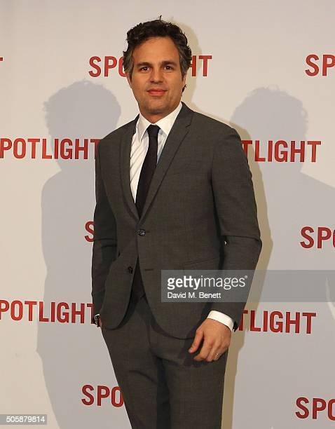 Mark Ruffalo attends the UK Premiere of Spotlight at The Washington Mayfair on January 20 2016 in London England