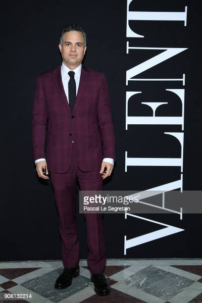 Mark Ruffalo attends the Valentino Menswear Fall/Winter 20182019 show as part of Paris Fashion Week on January 17 2018 in Paris France