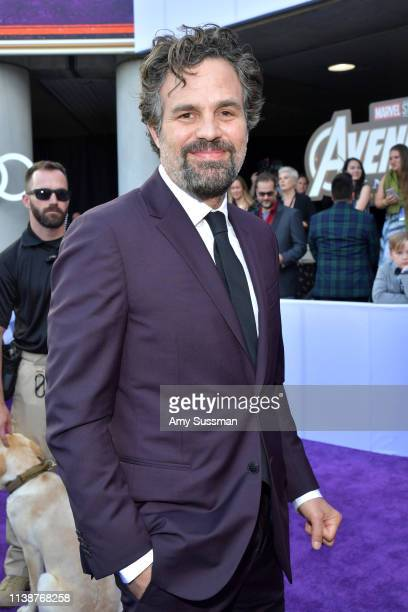 Mark Ruffalo attends the world premiere of Walt Disney Studios Motion Pictures Avengers Endgame at the Los Angeles Convention Center on April 22 2019...