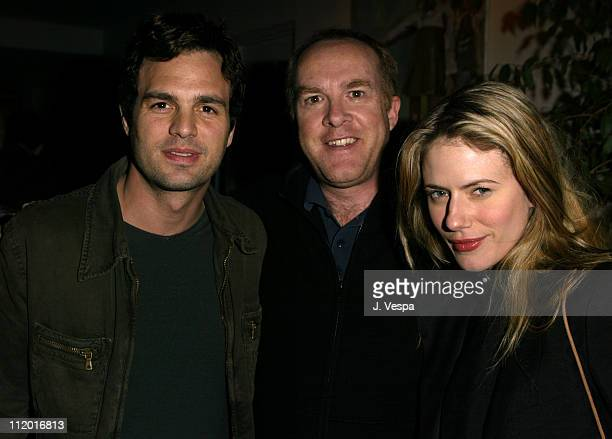 Mark Ruffalo, Cassian Elwes and Sunrise Ruffalo during Lions Gate Celebrates the Acquisition of Artisan Entertainment in Los Angeles, California,...