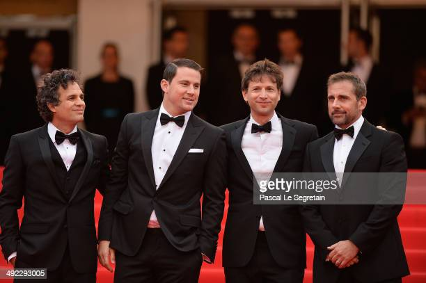 Mark Ruffalo Channing Tatum director Bennett Miller and Steve Carell attend the 'Foxcatcher' premiere during the 67th Annual Cannes Film Festival on...