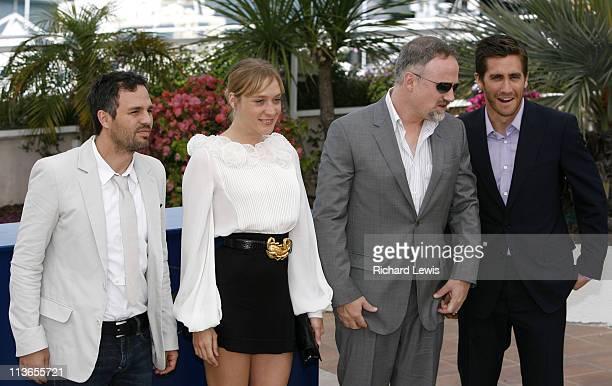 Mark Ruffalo Chloe Sevigny David Fincher and Jake Gyllenhaal