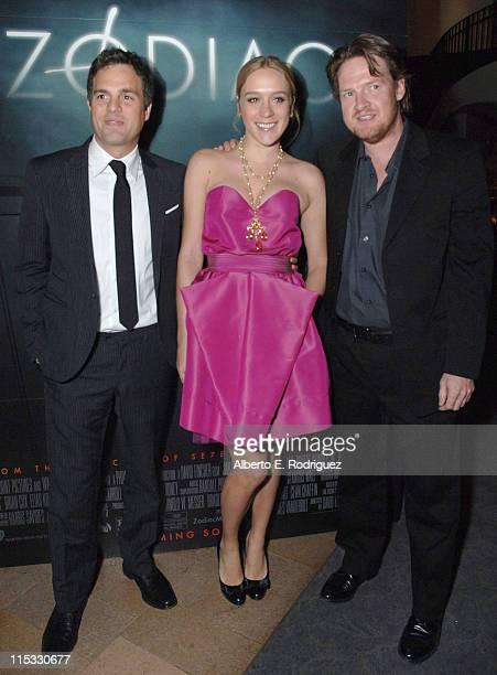 Mark Ruffalo Chloe Sovigny and Donal Logue during 'Zodiac' Los Angeles Premiere Arrivals at Paramount Studios in Hollywood California United States
