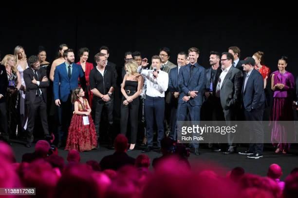 Mark Ruffalo Chris Evans Alexandra Rabe Robert Downey Jr Scarlett Johansson Jeremy Renner Chris Hemsworth Executive producer Jon Favreau and...