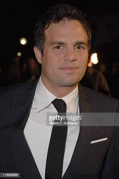 Mark Ruffalo during Zodiac Los Angeles Premiere Arrivals at Paramount Studios in Hollywood California United States
