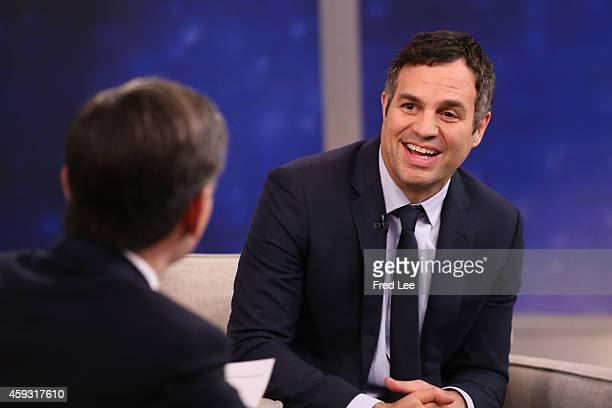 AMERICA Mark Ruffalo is a guest on Good Morning America 11/20/14 airing on the Walt Disney Television via Getty Images Television Network