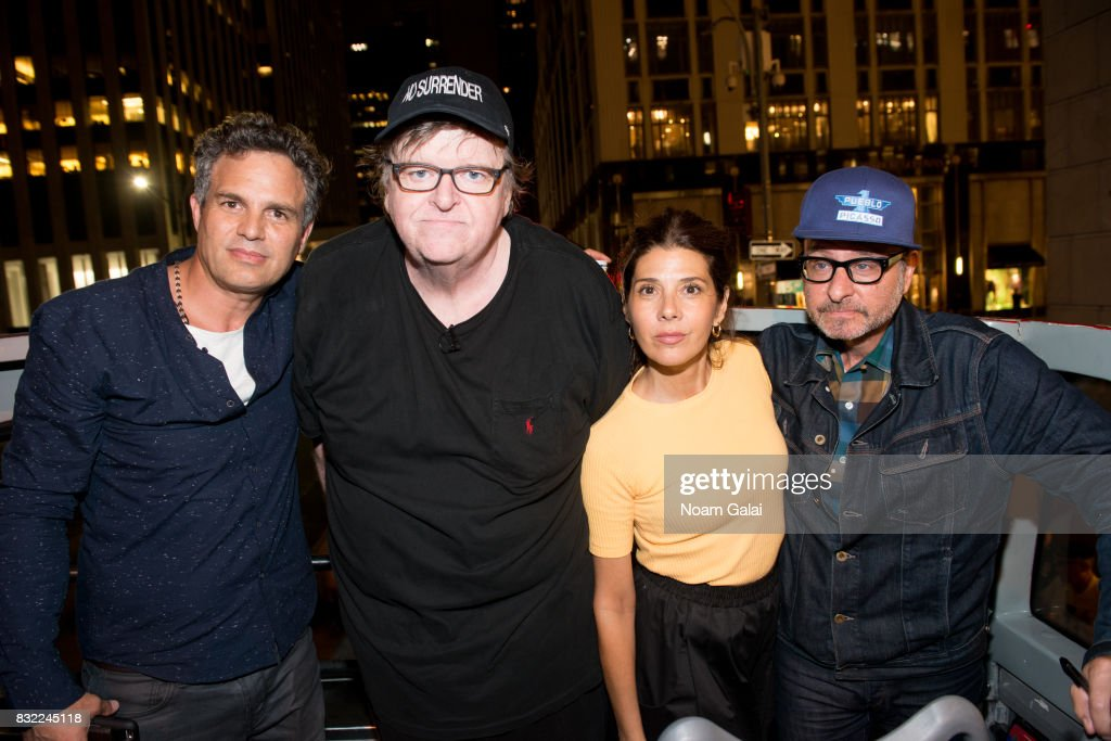 Michael Moore Takes His Broadway Audience To Trump Tower To Protest