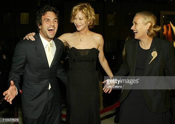 Mark Ruffalo Meg Ryan Jane Campion during Premiere of Jane Campion's In the Cut Red Carpet at Academy of Motion Picture Arts and Sciences in Beverly...