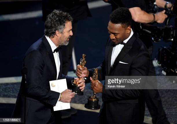 """Mark Ruffalo presents the Oscar for Best Documentary Feature for """"American Factory"""" onstage during the 92nd Annual Academy Awards at Dolby Theatre on..."""