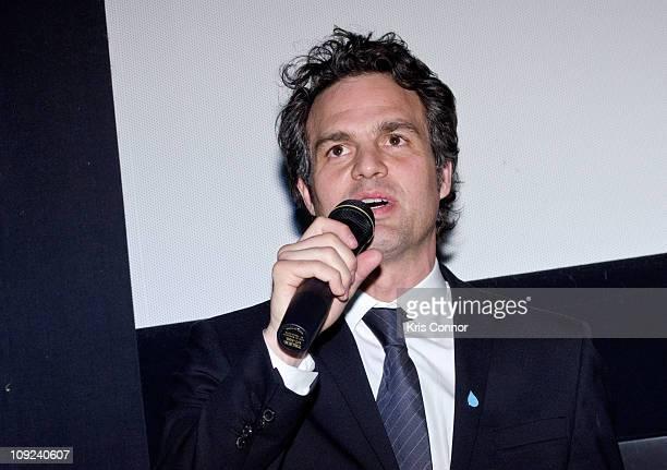 Mark Ruffalo speaks during the 'Gasland' screening at E Street Cinema on February 17 2011 in Washington DC