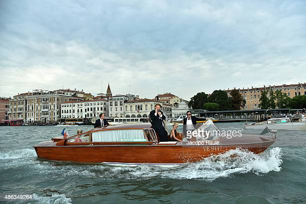 Mark Ruffalo Sunrise Coigney and Stanley Tucci are seen during the 72nd Venice Film Festival on September 3 2015 in Venice Italy