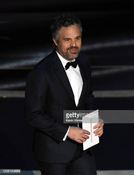 Mark Ruffalo walks onstage during the 92nd Annual Academy Awards at Dolby Theatre on February 09 2020 in Hollywood California