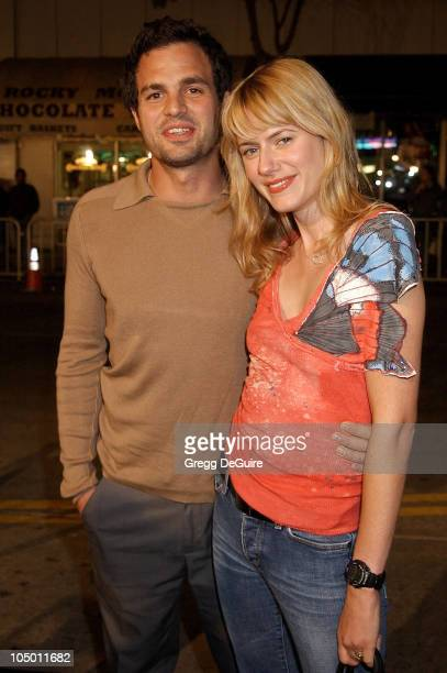 Mark Ruffalo wife Sunrise during The Ring Premiere at Mann Bruin Theatre in Westwood California United States