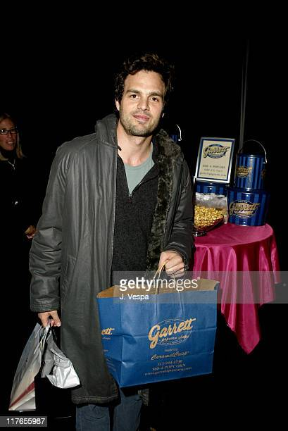 Mark Ruffalo with Garrett Popcorn Shops during 2004 Screen Actors Guild Awards Backstage Creations Day One at The Shrine Auditorium in Los Angeles...