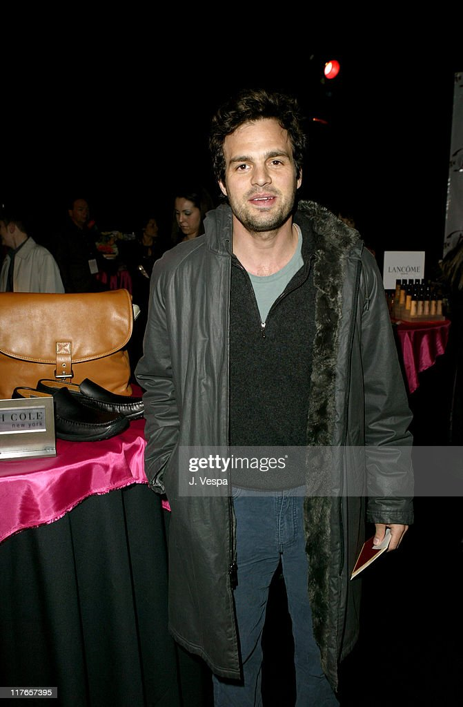 Mark Ruffalo with Kenneth Cole New York during 2004 Screen Actors Guild Awards - Backstage Creations Day One at The Shrine Auditorium in Los Angeles, California, United States.