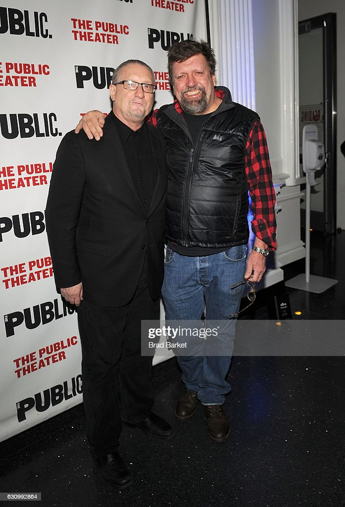 Mark Russell(L) and Oskar Eustis attend the 13th Annual Under the Radar Festival 2017 Opening Night at The Public Theater on January 4, 2017 in New York City.