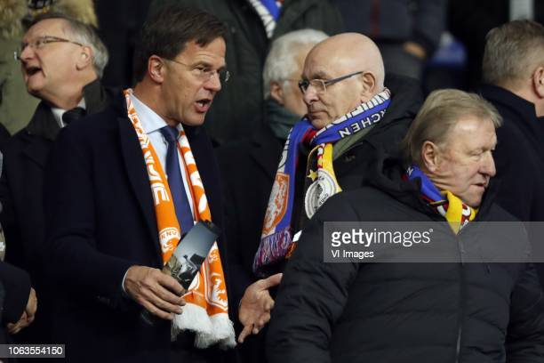Mark Rutte premier, Michael van Praag during the UEFA Nations League A group 1 qualifying match between Germany and The Netherlands at the Veltins...