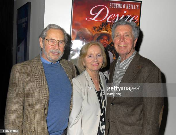 Mark Rydell Eva Marie Saint and Jeffrey Hayden during Jeffrey Hayden Directs Eugene O'Neill's Desire Under The Elms Opening Night Inside at Odyssey...