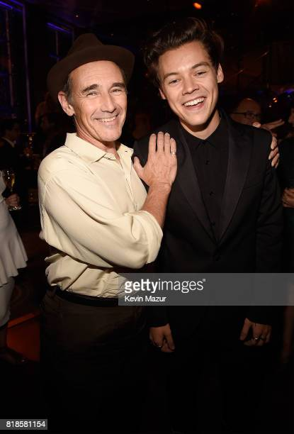 Mark Rylance and Harry Styles attend the after party for the premiere of DUNKIRK at The Rainbow Room on July 18 2017 in New York City