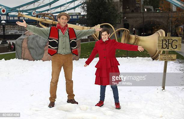 """Mark Rylance and Ruby Barnhill celebrate the release of """"The BFG"""" on Digital Download, Blu-ray and DVD at Potters Field on November 21, 2016 in..."""