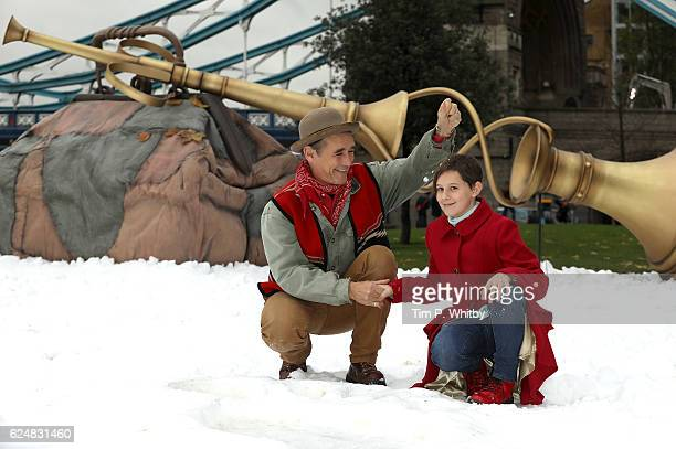 Mark Rylance and Ruby Barnhill celebrate the release of The BFG on Digital Download Bluray and DVD at Potters Field on November 21 2016 in London...