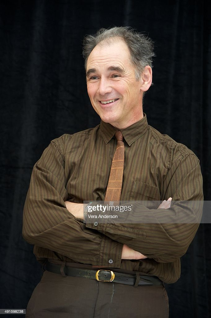 Mark Rylance at the 'Bridge of Spies' Press Conference at the Mandarin Oriental Hotel on October 4, 2015 in New York City.