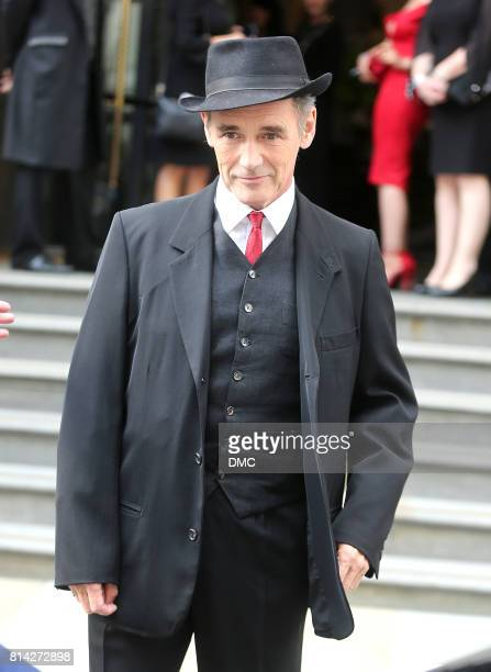 Mark Rylance is seen seen leaving his hotel to the 'Dunkirk' World Premiere on July 13 2017 in London England